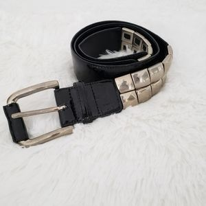 Carlisle Leather and Antiqued Silver Belt